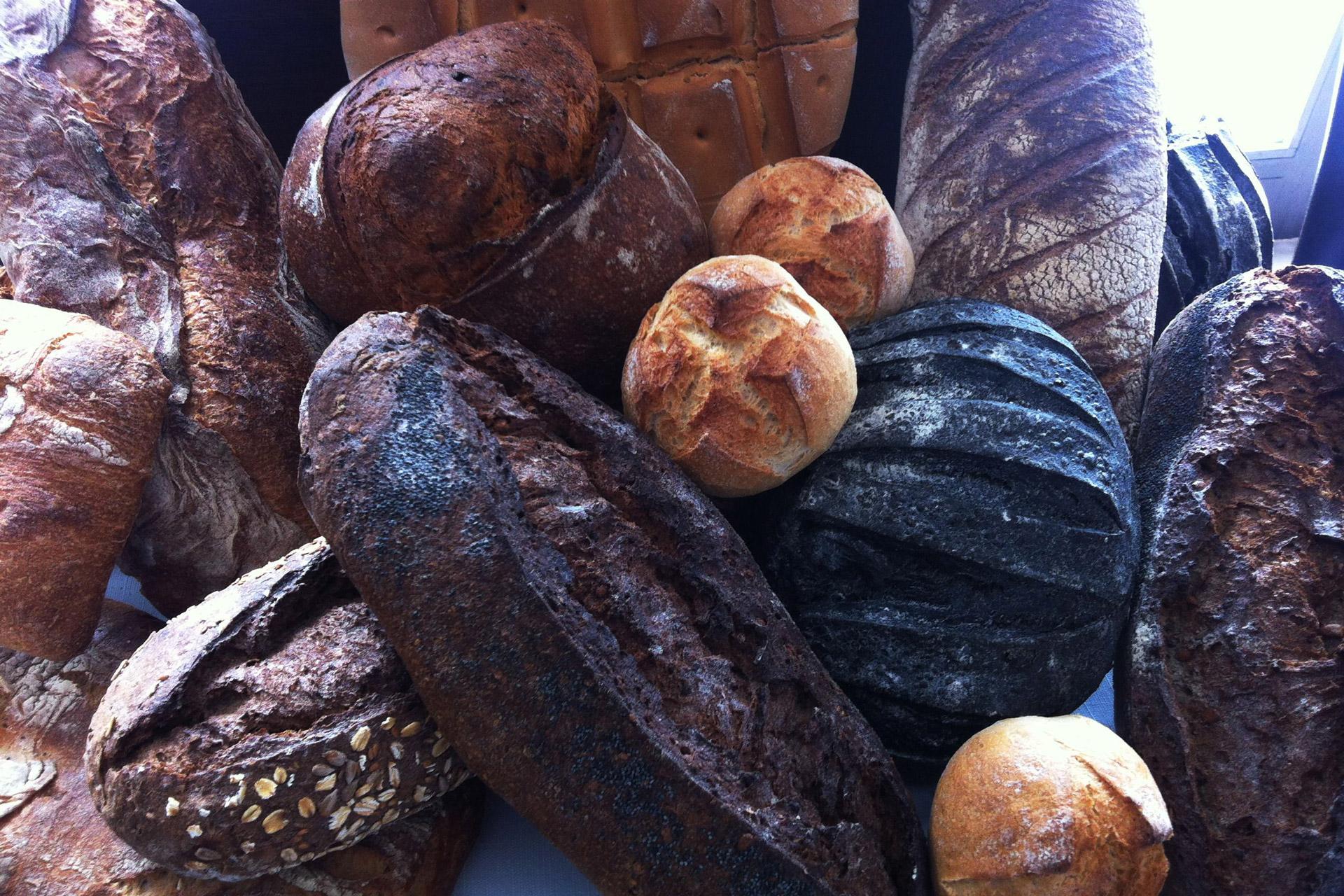 Selección de panes Restaurante Parque de la Ribota en Alcorcón
